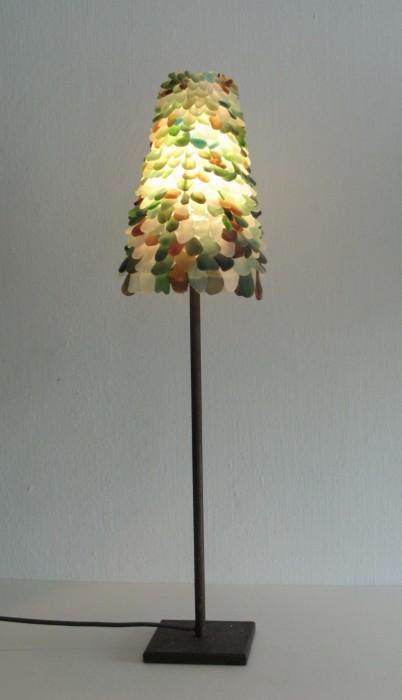 Lampe verres de mer en picots gordeeff v ronique for Lampe bord de mer
