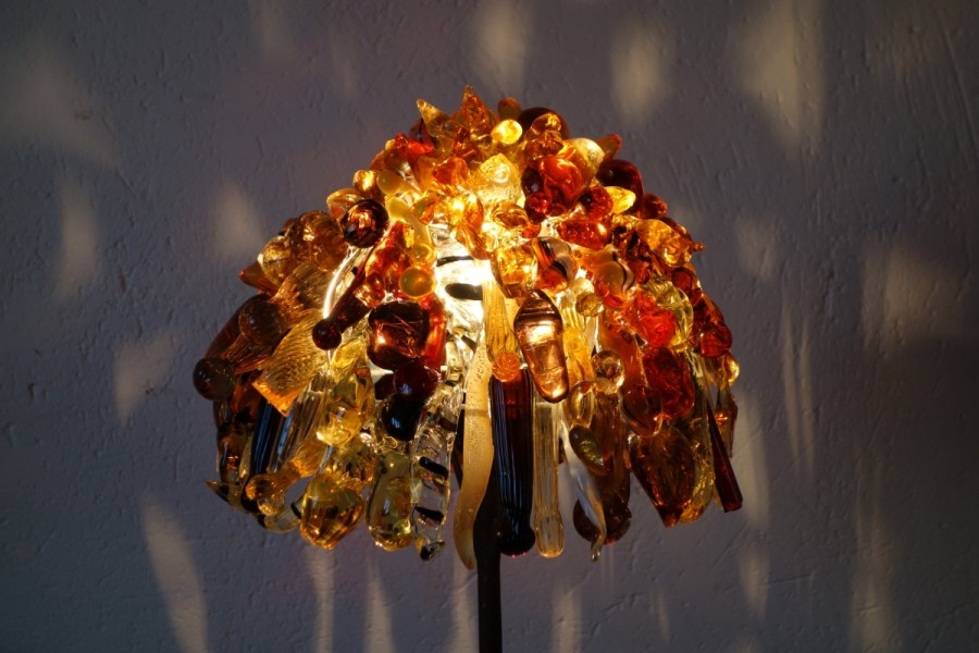 haut lampe jaune