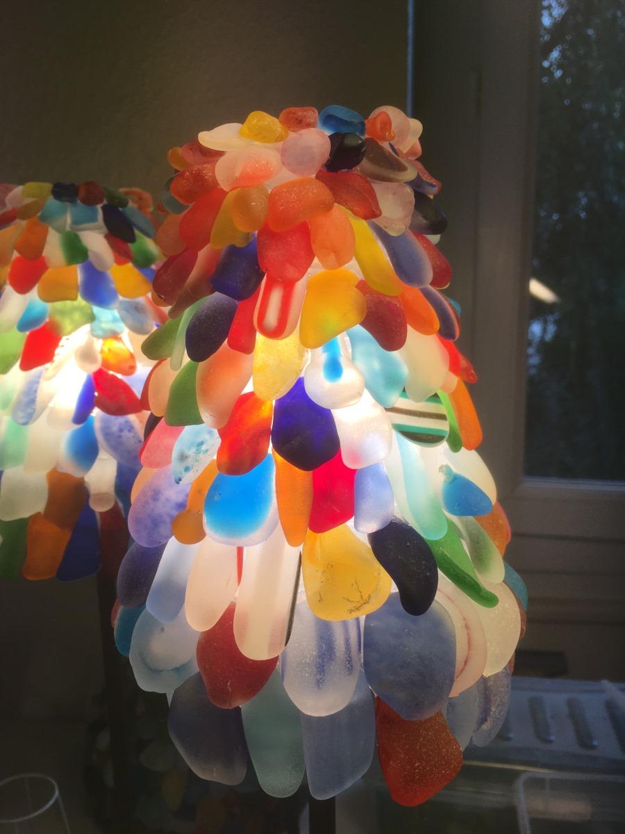 petite lampe verres dépolis murano